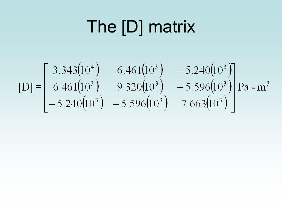 The [D] matrix